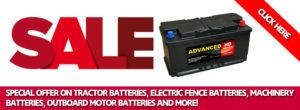 cheap battery sale banner