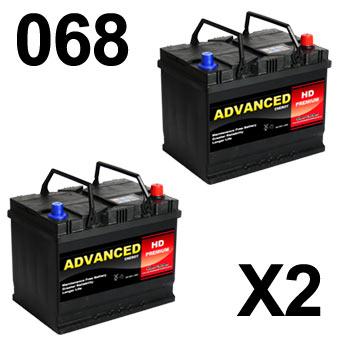 068 x 2 Dual Batteries