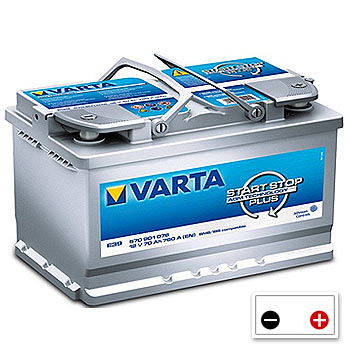 varta e39 agm stop start car battery 570901076 096 abs batteries. Black Bedroom Furniture Sets. Home Design Ideas