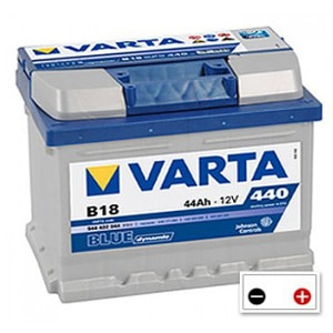 varta b18 car battery 12v