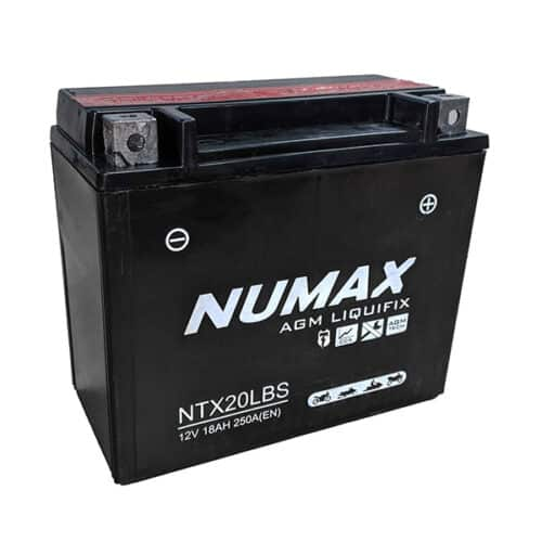 YTX20LBS numax motorcycle battery image