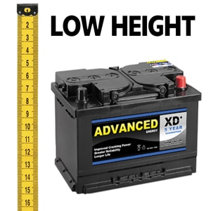 Motorhome Low Height Leisure Batteries