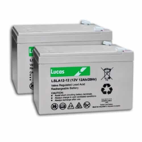 lucas 12v 12ah pair batteries image