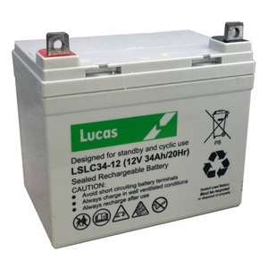 Lucas 34ah LSLC battery