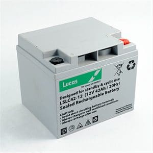 Lucas 42ah battery 12v