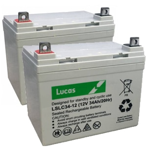 Pair of Lucas 34ah 12v bateries