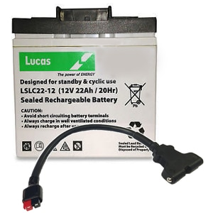 Lucas Lslc22 12 Battery 12v 22ah With Lead And T Bar Abs