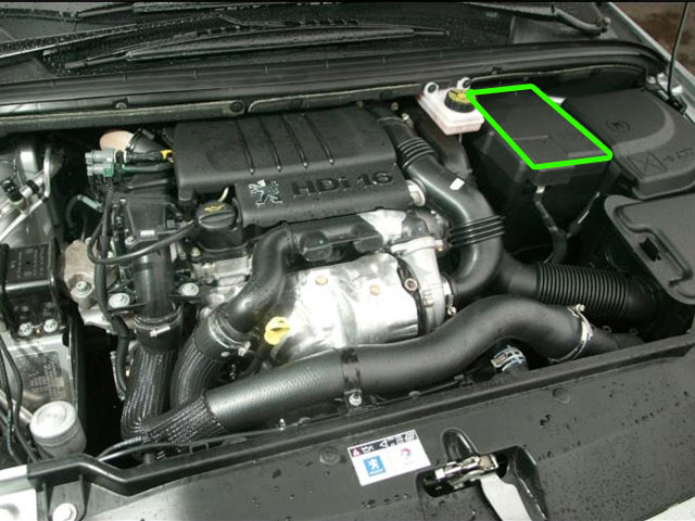 Peugeot 307 Car Battery Location