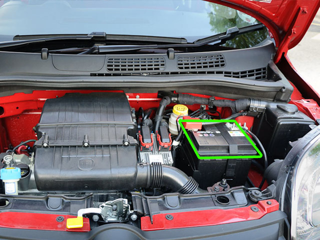 Fiat Panda Car Battery Location