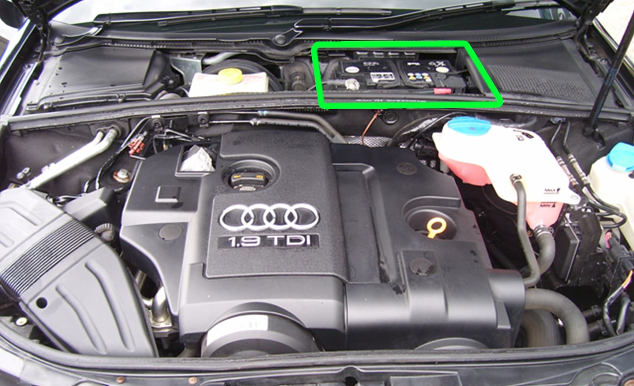audi a4 car battery location abs batteries. Black Bedroom Furniture Sets. Home Design Ideas