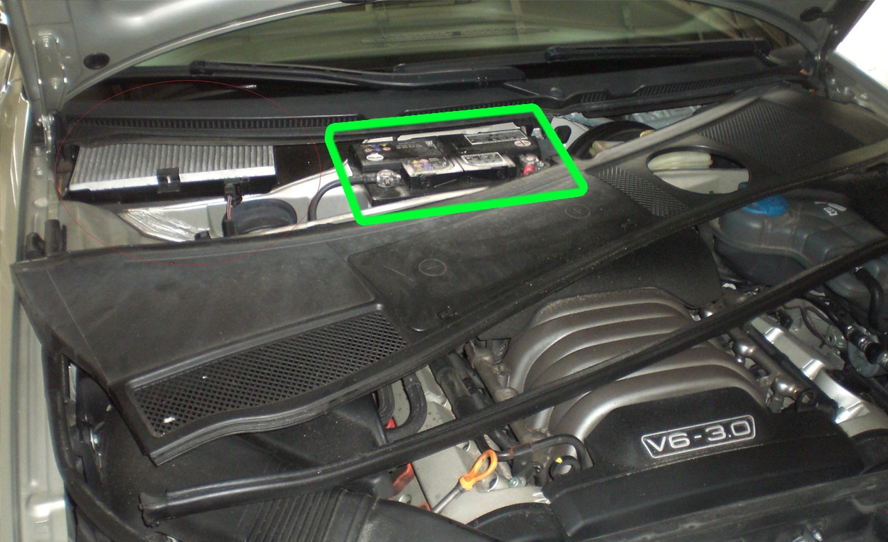 Audi A6 Car Battery Location