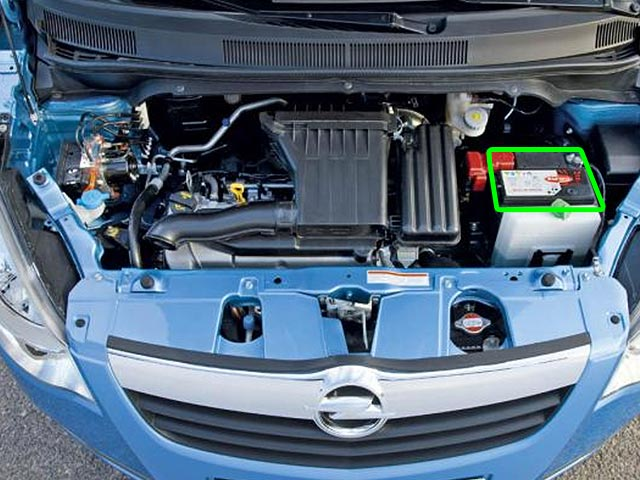 Vauxhall Agila Car Battery Location