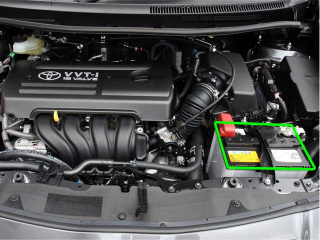 Toyota Auris Car Battery Location
