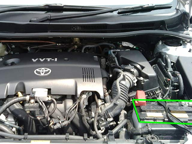 Toyota Avensis Car Battery Location