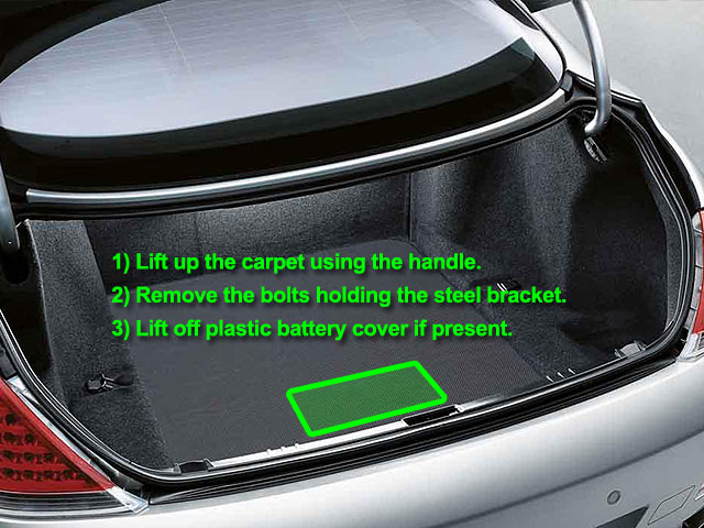 BMW 6 Series Car Battery Location