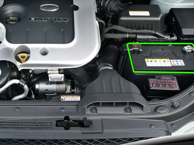 Kia Carens Car Battery Location