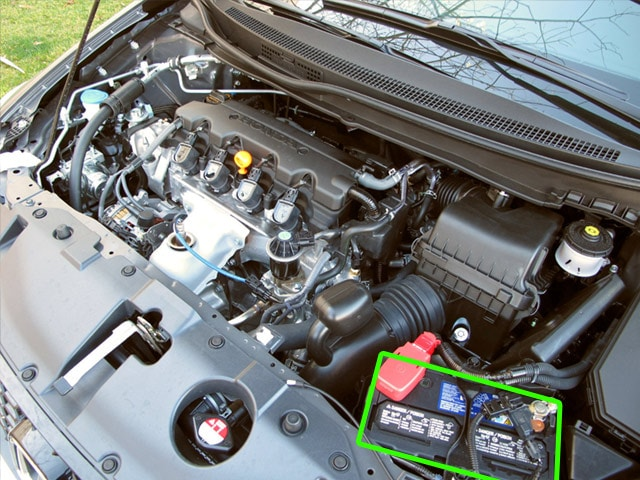 Honda Civic Car Battery Location