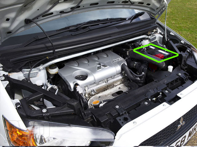 Mitsubishi Colt Car Battery Location