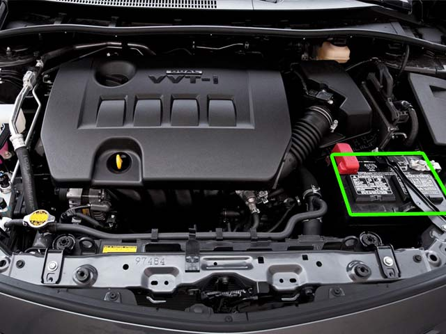 Toyota Corolla Car Battery Location