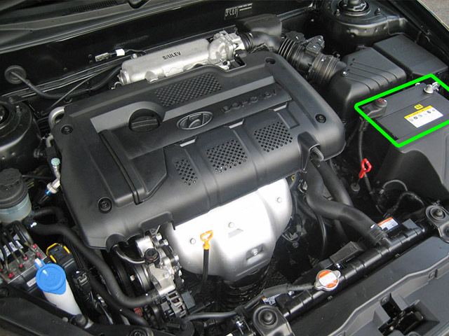 Hyundai Coupe Car Battery Location
