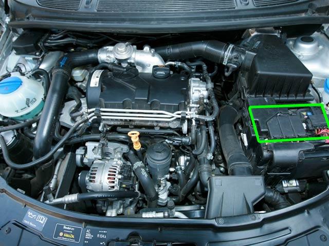 Skoda Fabia Car Battery Location