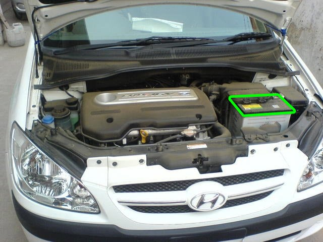 Hyundai Getz Car Battery Location