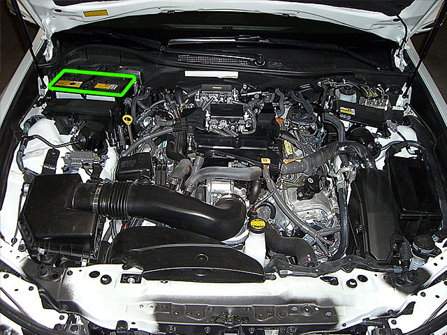 Lexus GS Car Battery Location