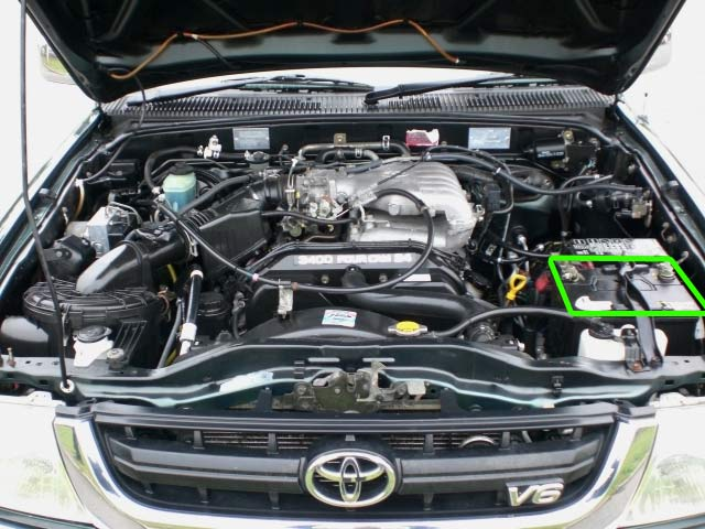 Toyota Hilux Battery Location