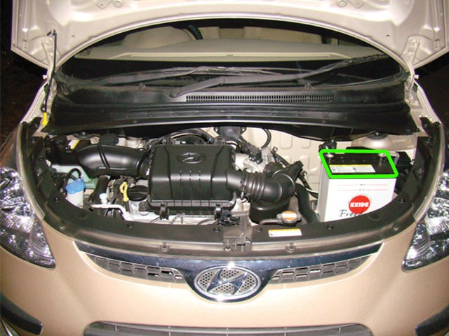 Hyundai I10 Car Battery Location