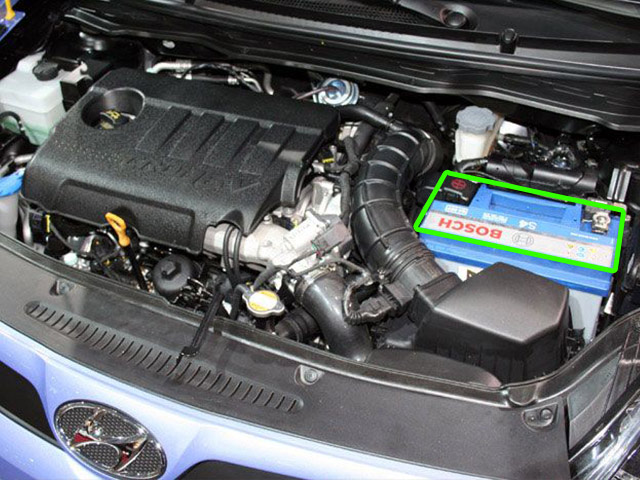 Hyundai I20 Car Battery Location