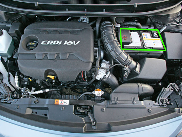 hyundai i30 car battery location