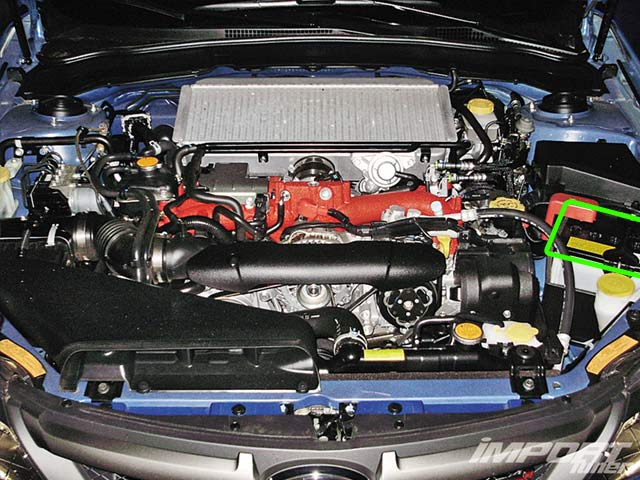 Subaru Impreza Car Battery Location