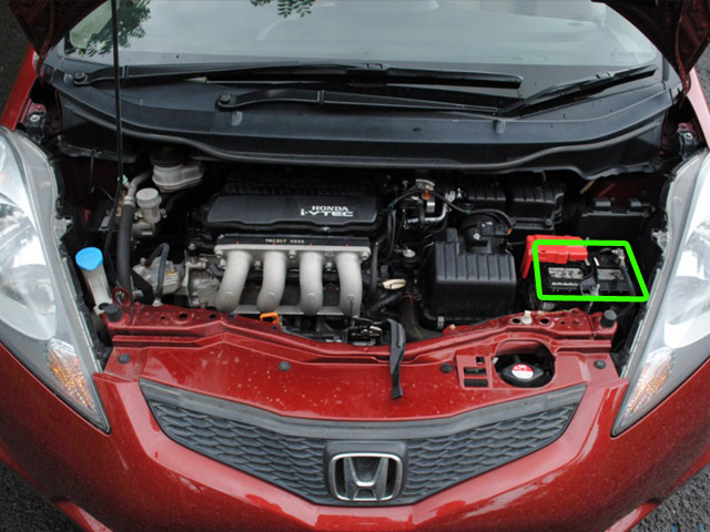 Honda Jazz Car Battery Location