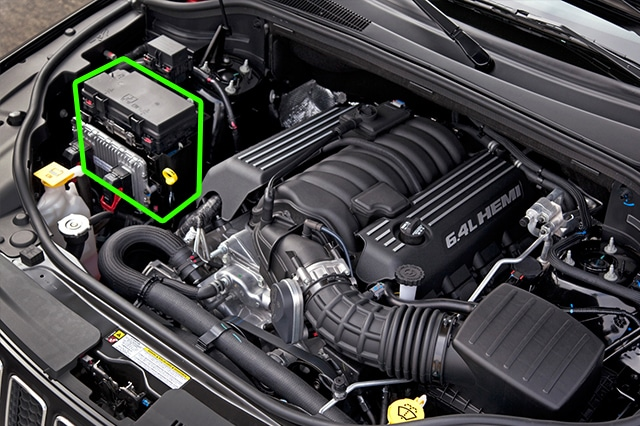 Location of the battery in Jeep Cherokee car models