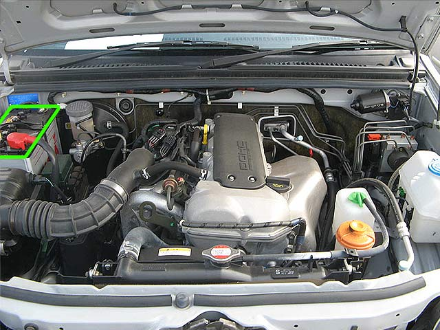 Suzuki Jimny Car Battery Location