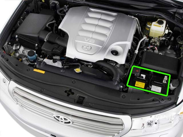 Toyota Land Cruiser Battery Location