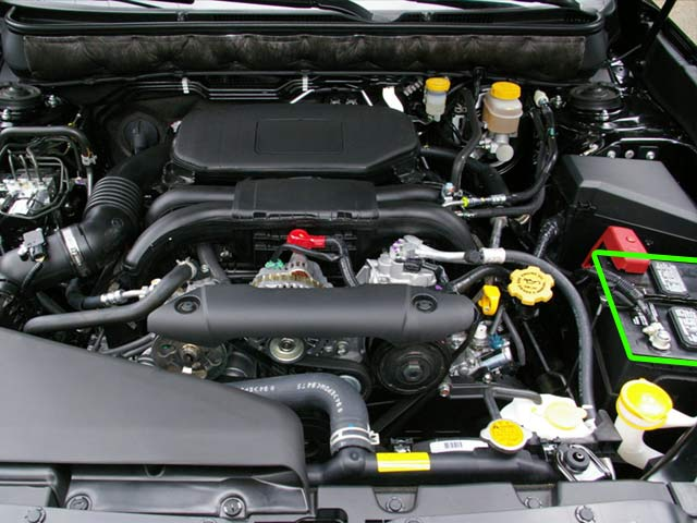 Subaru Legacy Car Battery Location