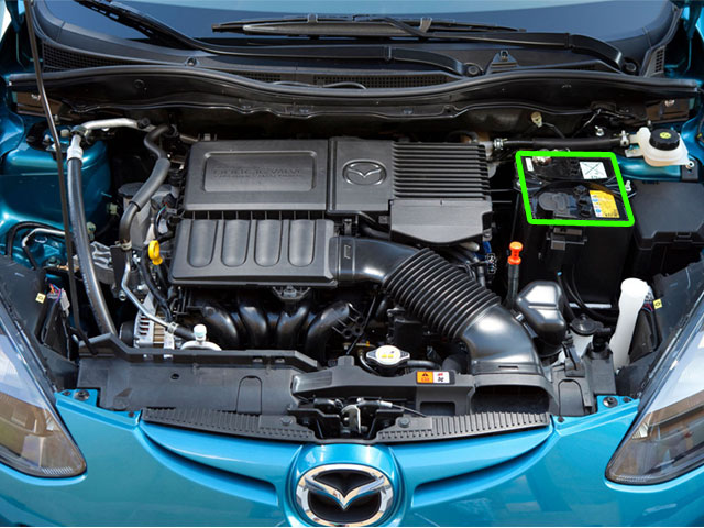 mazda 2 car battery location abs batteries