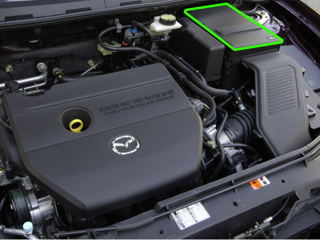 Mazda 3 Car Battery Location