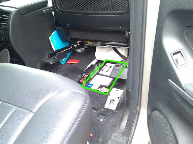 Mercedes ML Battery Location Under Seat