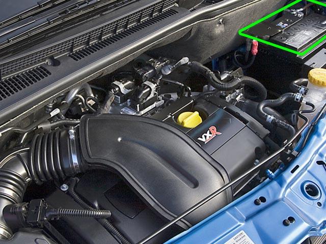 Vauxhall Meriva Car Battery Location