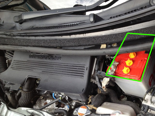 Daihatsu Move car battery location