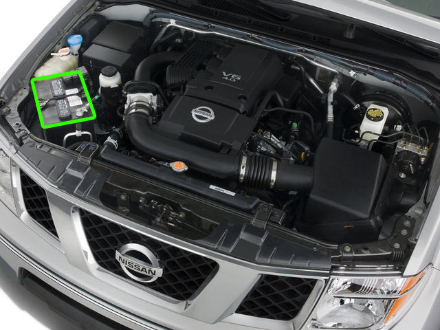 Nissan Navara 4x4 Battery Location