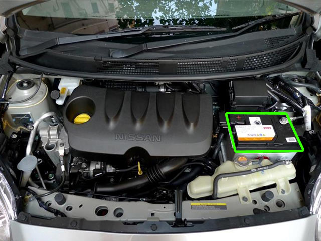 Nissan Note Car Battery Location