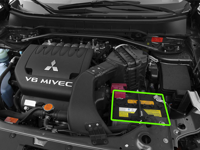 Mitsubishi Outlander Battery Location