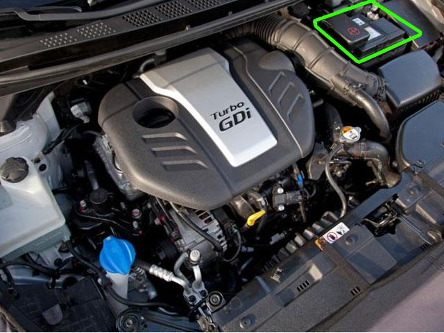 Kia Proceed Car Battery Location