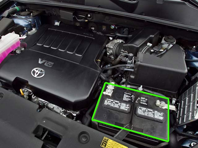 Toyota RAV4 Battery Location