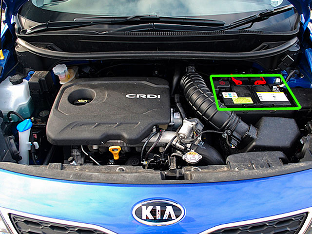 Kia Rio Car Battery Location