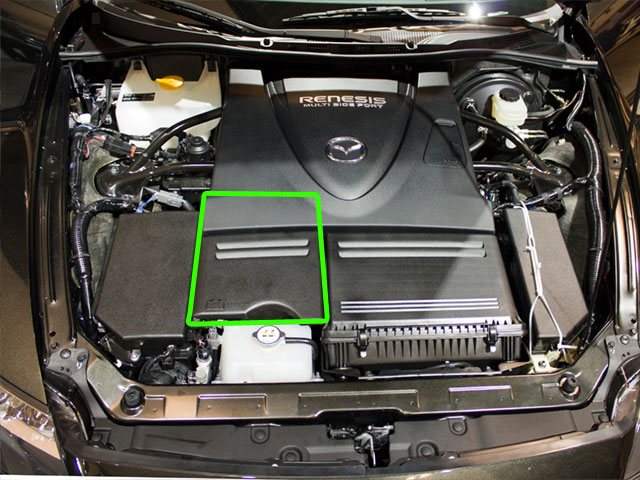 Mazda RX8 Car Battery Location