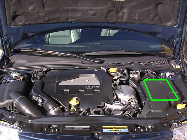 SAAB 9-5 Car Battery Location